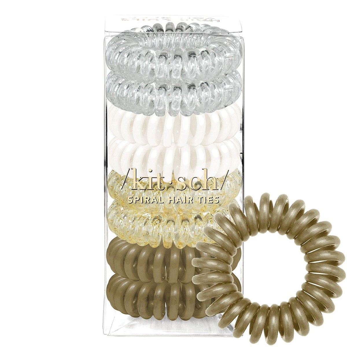 Kitsch Spiral Hair Ties (8-Pack)