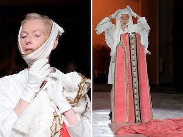 "Tilda Swinton performing an ""exhibition in progress"""