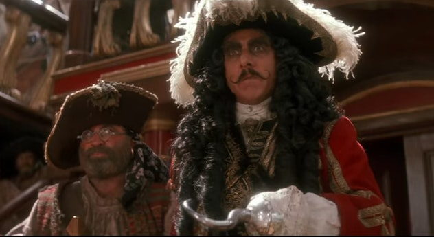 Hook, directed by Steven Spielberg, is a fantasy movie for kids about a grown-up Peter Pan.