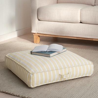 Chambray Stripe Indoor Floor Cushion