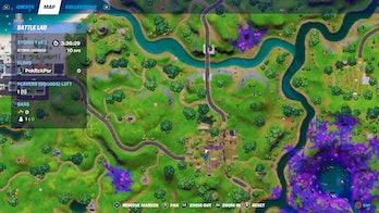 fortnite week 3 alien artifact location 5 map
