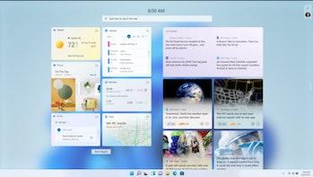 Windows 11's visual updates include a new Start Menu, widgets, and softer corners.
