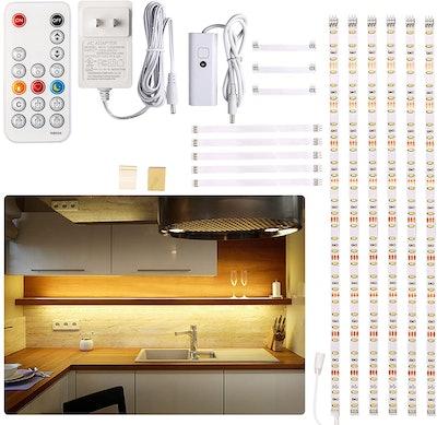 Wobane Under-Cabinet LED Strip Lights (6 Pieces)
