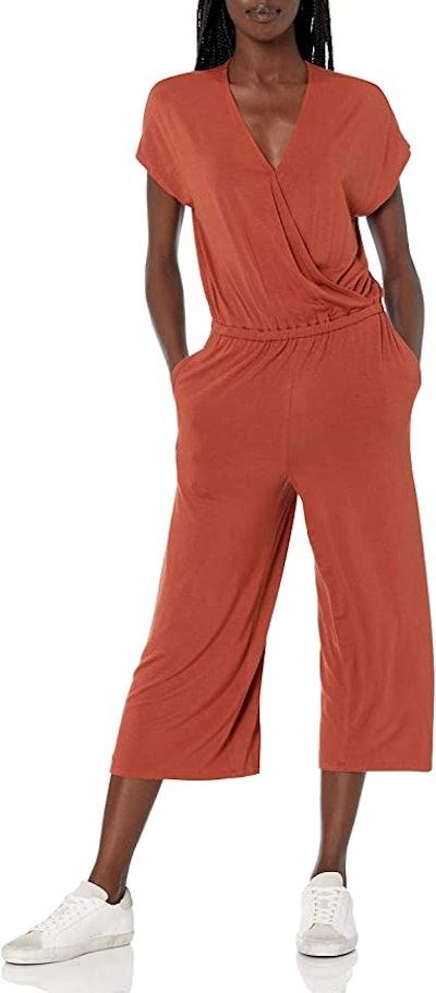 Amazon Essentials Cropped Wide-Leg Jumpsuit
