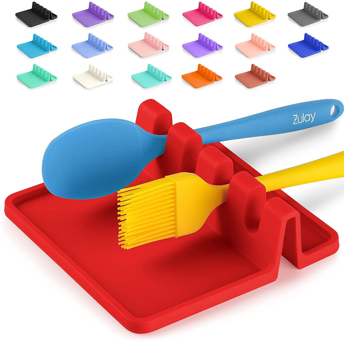 Silicone Utensil Rest with Drip Pad
