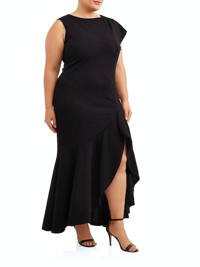 Women's Plus Sleeveless Split Side Dress