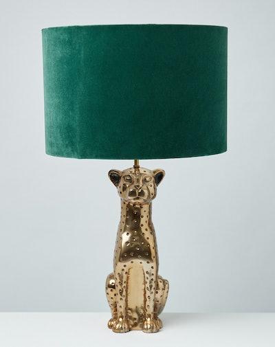Leopard Green Velvet Shade Desk & Table Lamp