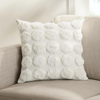 Tufted Dot Decorative Pillow