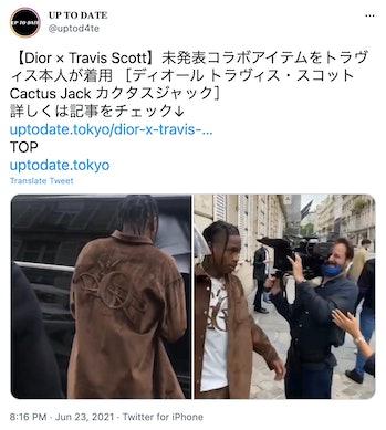 Travis Scott Dior Collaboration