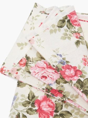 Floar-Print Cotton Tablecloth