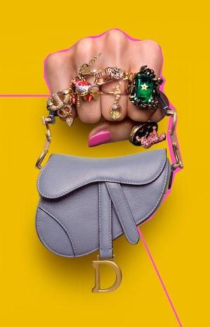 Dior's Microbag Saddle Bag
