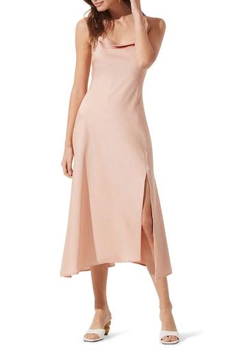 Cowl Slip Midi Dress