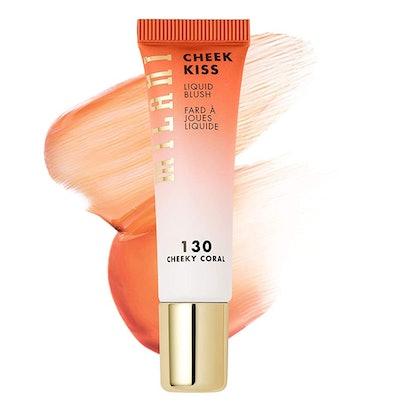 Milani Cheek Kiss Liquid Blush Makeup, Cheeky Coral
