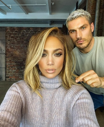 Adding volume to already-thick hair may seem like a no-no, but a blown-out bob hairstyle like Jennifer Lopez's can actually frame and open the face nicely, says stylist Laura Polko.