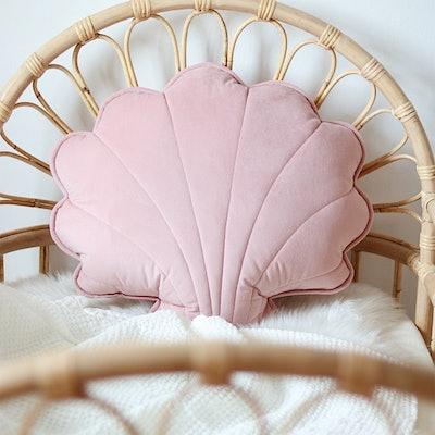 Big Shell Cushion - Soft Pink
