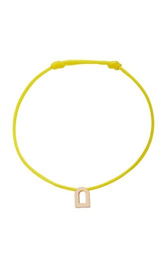 L'Arc Voyage 18K Rose Gold and Silk Cord Bracelet