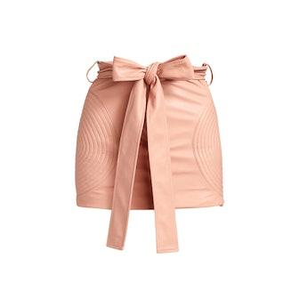 Paper Bag Moto Cross Mini Skirt