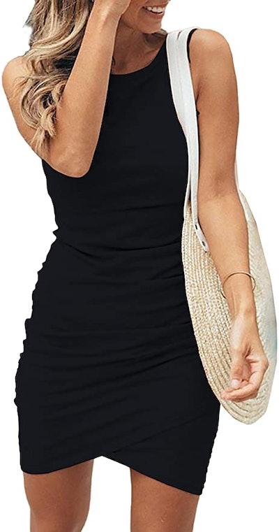 BTFBM Ruched Mini Dress