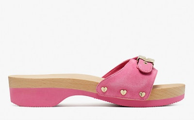 dr. scholl's x kate spade new york crushed watermelon suede slide sandal
