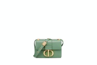 Micro 30 Montaigne Bag In Deep Mint Green Box Calfskin