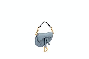 Micro Saddle Bag In Cloud Blue Goatskin