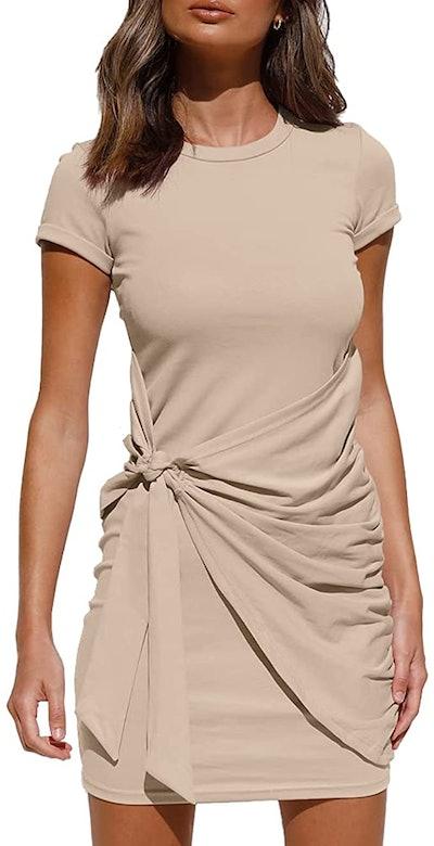 LILLUSORY Ruched Mini Dresses