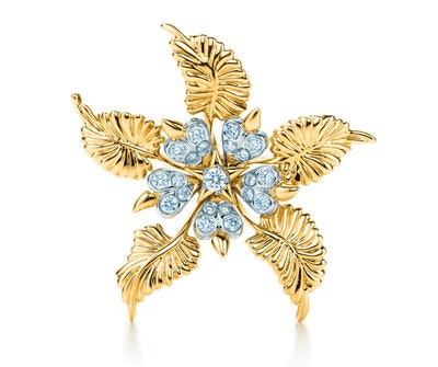 Schlumberger® Floral Leaves Clip