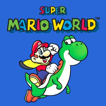 super mario world cover art