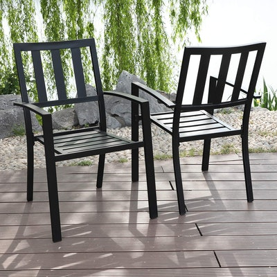 MFSTUDIO Patio Dining Chair (Set Of 2)