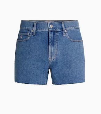 Calvin Klein Pride Slim Fit Mid-Blue Denim Shorts