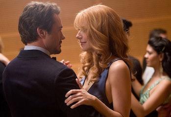 Robert Downey, Jr. and Gwyneth Paltrow dancing in Iron Man