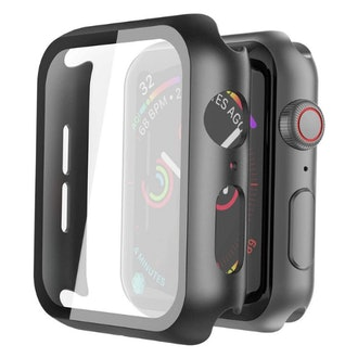 Misxi Hard Piece Apple Watch Case with Tempered Glass (2 pack)