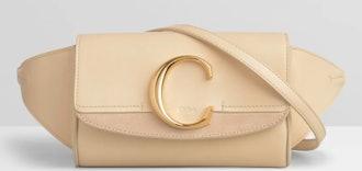 C Belt Bag In Shiny & Suede Calfskin