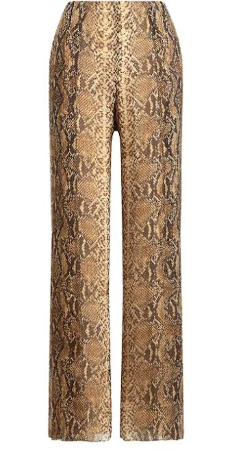 Saunder Python Print Pants