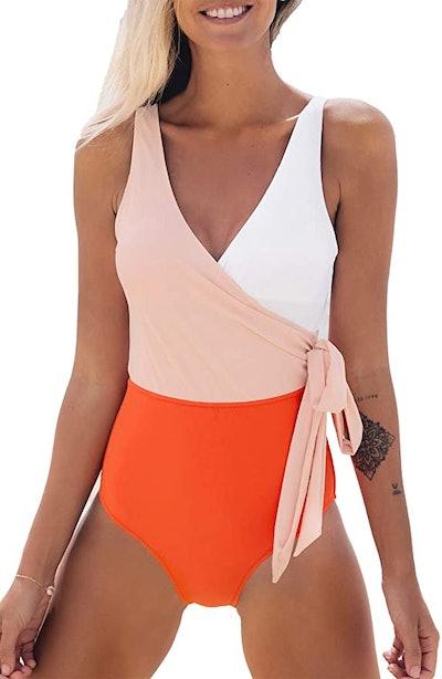CUPSHE Color Block Swimsuit