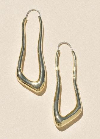 Brass Lanky Hoops