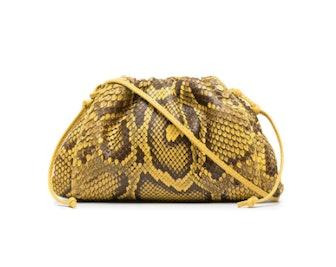 Snakeskin-Effect Crossbody Bag