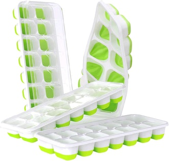 DOQAUS Easy Release Silicone Ice Cube Trays (4 pack)