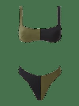 Anna Army Colorblock Bikini