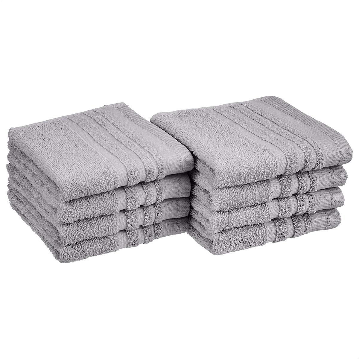 Amazon Basics Cosmetic Friendly Hand Towel (8-Pack)