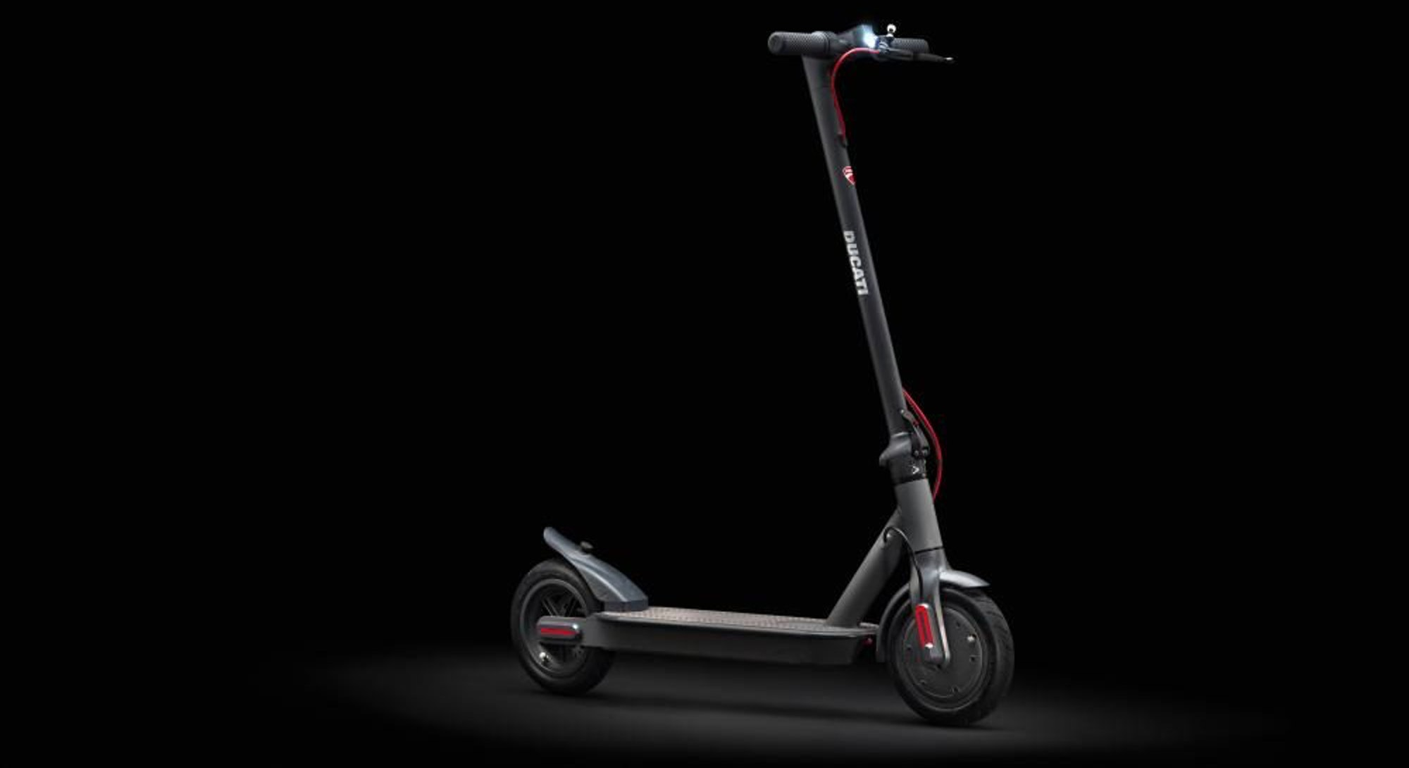 An image of the back wheel of Ducati's Pro-I Evo. Electric scooter. E-scooter. EV. EVs. Electric veh...