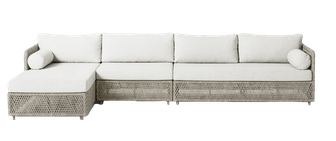 Coastal Outdoor 3-Piece Chaise Sectional