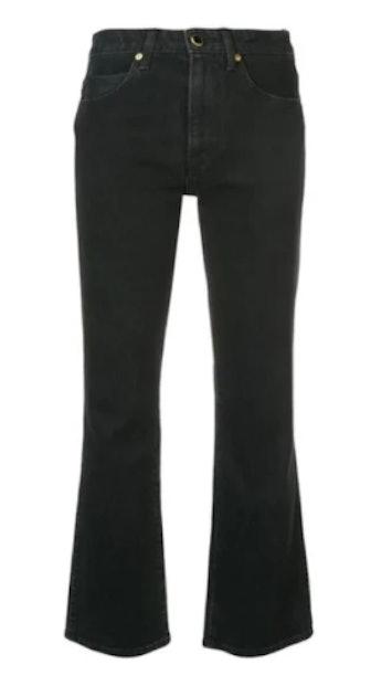 Khaite Vivian New Bootcut Flare Jeans In Black Rinse