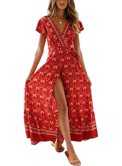 ECOWISH High Split Maxi Dress