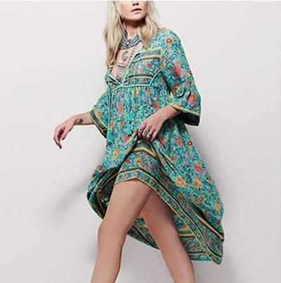 R.Vivimos Bohemian Midi Dress