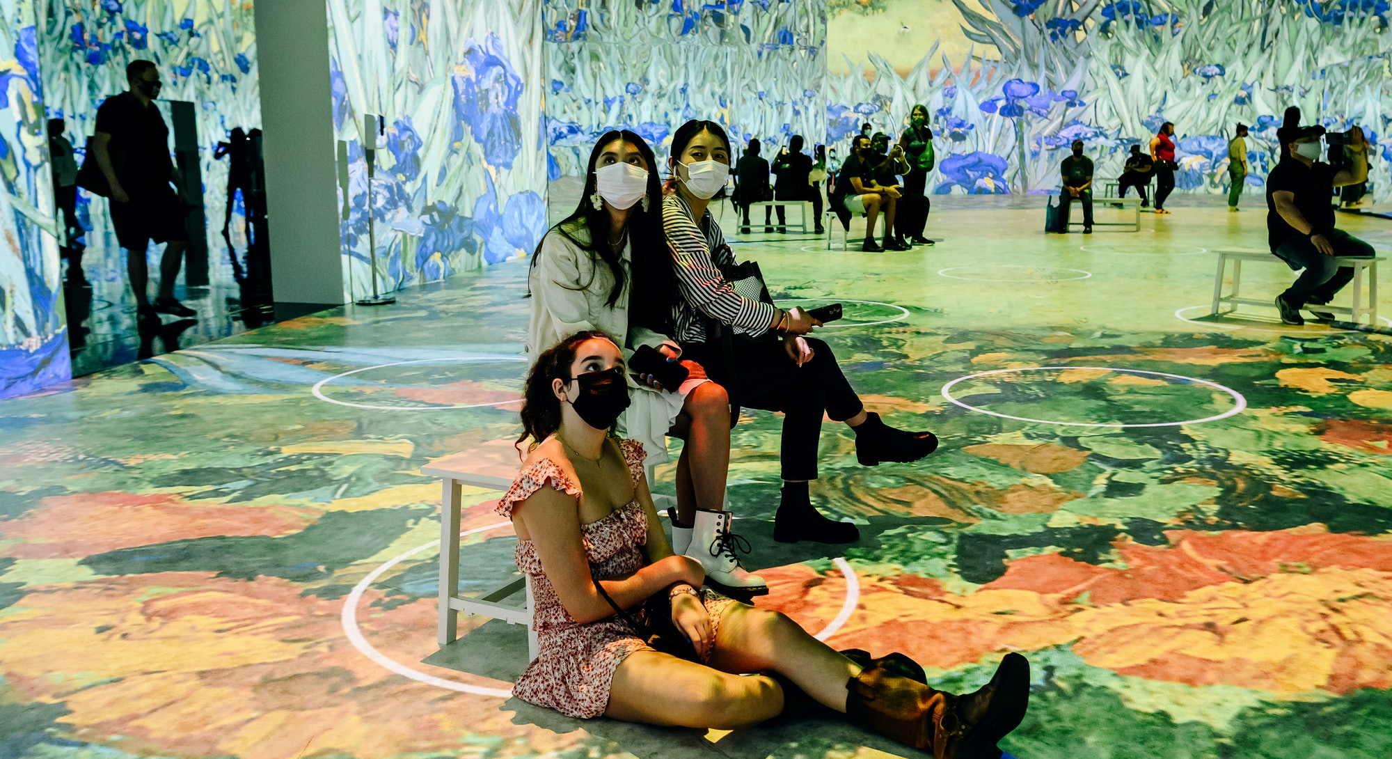 The immersive Van Gogh exhibit is very popular on Instagram.