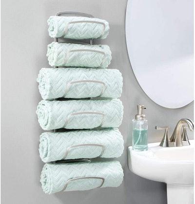 mDesign Wall-Mounted Towel Rack