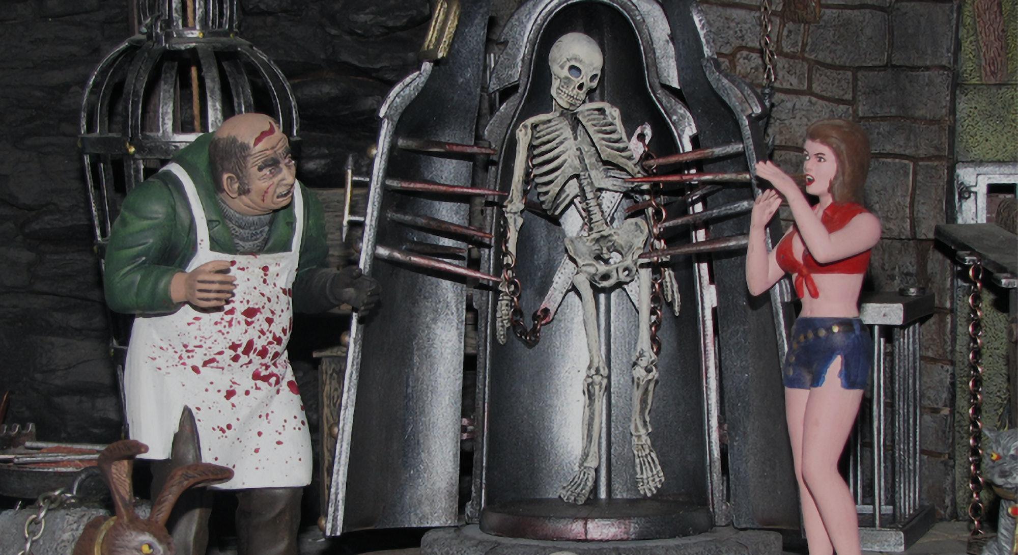 A horrifying Monster Scenes kit tableau