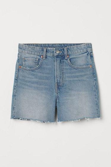 Slim High Denim Shorts
