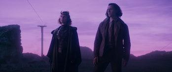 Sophia Di Martino and Tom Hiddleston in Loki Episode 3